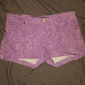 Pants - Washed out purple shorts